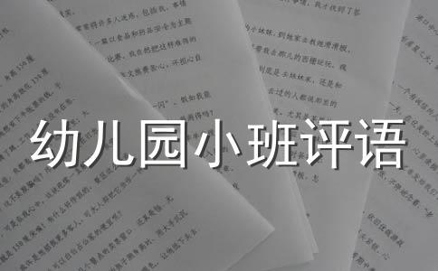 【精选】小班幼儿评语范文7篇