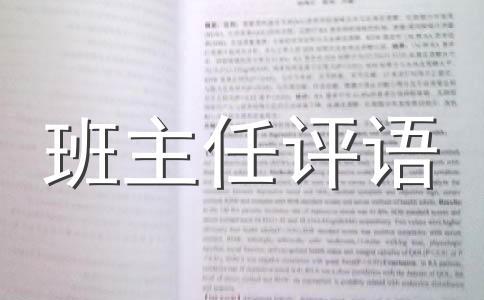 【热】评语范文13篇