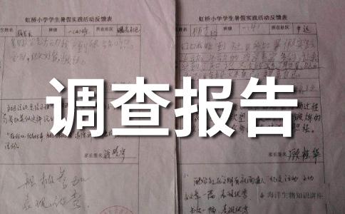 【精】社会实践调查报告范文合集11篇
