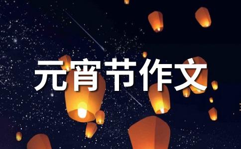 【热门】元宵节800字作文汇总10篇